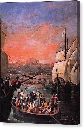 Columbus Departure, 1492 Canvas Print by Granger