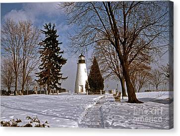 Concord Point Lighthouse Canvas Print by Skip Willits