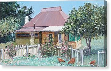 Country Cottage Canvas Print by Jan Matson