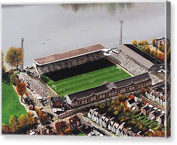 Craven Cottage - Fulham Canvas Print by Kevin Fletcher