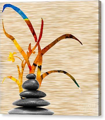 Creating Balance Canvas Print by Marvin Blaine