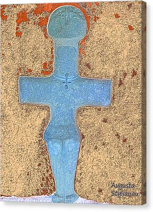 Cyprus Idol Of Pomos Canvas Print by Augusta Stylianou