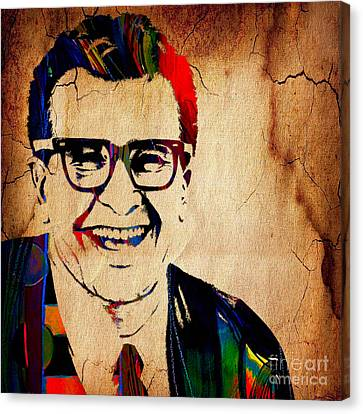 Dave Brubeck Collection Canvas Print by Marvin Blaine