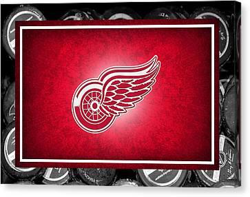 Detroit Red Wings Canvas Print by Joe Hamilton