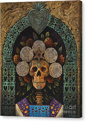 Dia De Muertos Madonna Canvas Print by Ricardo Chavez-Mendez