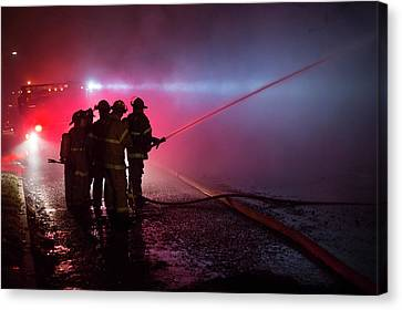 Domestic Fire Canvas Print by Jim West