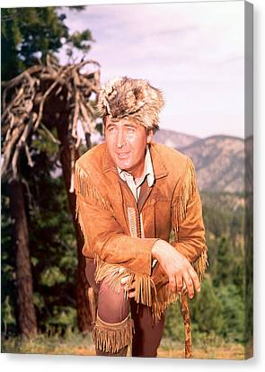 Fess Parker In Daniel Boone  Canvas Print by Silver Screen