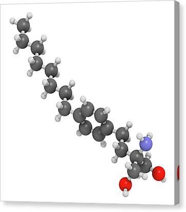 Fingolimod Multiple Sclerosis Drug Canvas Print by Molekuul