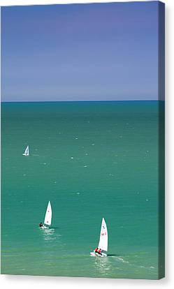 France, Normandy, Veules Les Roses Canvas Print by Walter Bibikow
