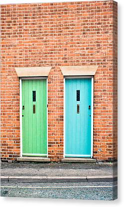Front Doors Canvas Print by Tom Gowanlock