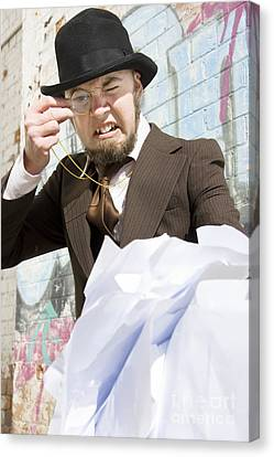 Frustrated Businessman Canvas Print by Jorgo Photography - Wall Art Gallery