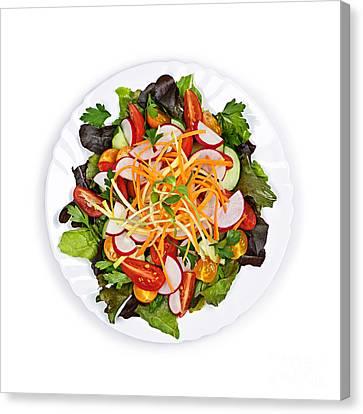 Garden Salad Canvas Print by Elena Elisseeva