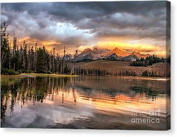 Golden Sunrise Canvas Print by Robert Bales