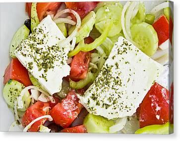Greek Salad Canvas Print by Tom Gowanlock
