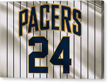 Indiana Pacers Uniform Canvas Print by Joe Hamilton