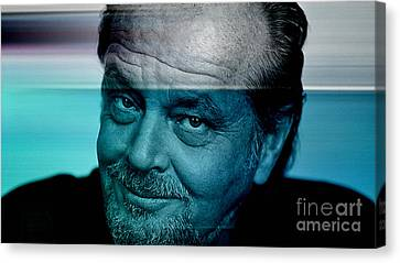 Jack Nicholson Canvas Print by Marvin Blaine