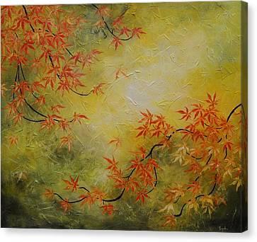 Japanese Maple Tree Canvas Print by Tomoko Koyama
