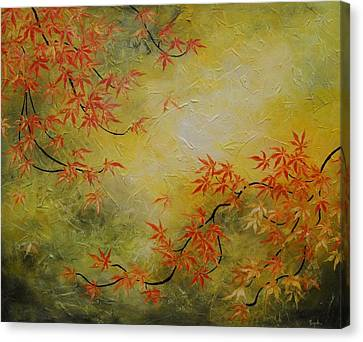 Japanese Maple Tree Canvas Print by Tomoko Koyama