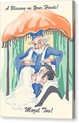 Wedding Mazel Tov Canvas Print by Shirl Solomon