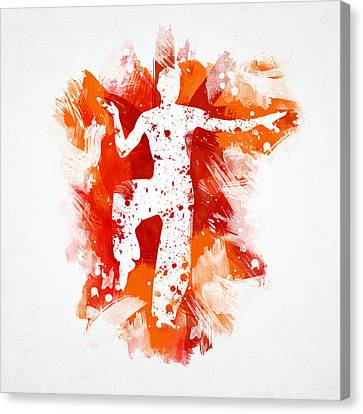 Karate Fighter Canvas Print by Aged Pixel