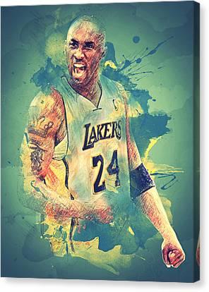 Kobe Bryant Canvas Print by Taylan Soyturk