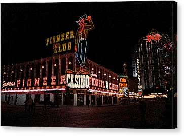 Las Vegas With Watercolor Effect Canvas Print by Frank Romeo