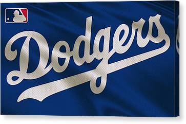 Los Angeles Dodgers Uniform Canvas Print by Joe Hamilton