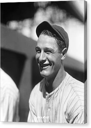 Lou Gehrig New York  Canvas Print by Retro Images Archive