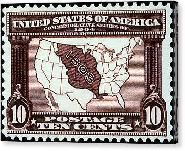 Louisiana Purchase, 1803 Canvas Print by Granger