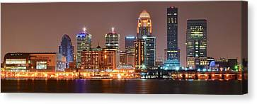 Louisville Panoramic View Canvas Print by Frozen in Time Fine Art Photography