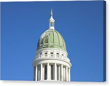 Maine State Capitol Building In Augusta Canvas Print by Keith Webber Jr