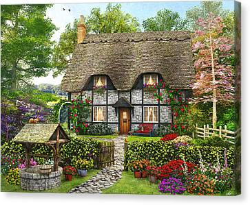 Meadow Cottage Canvas Print by Dominic Davison