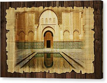 Medina Of Marakkesh Canvas Print by Catf