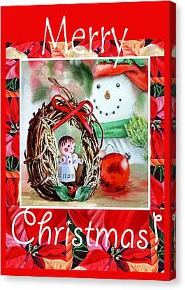 Merry Christmas Canvas Print by Irina Sztukowski
