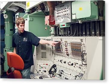 Minuteman Missile Control Room Canvas Print by Jim West