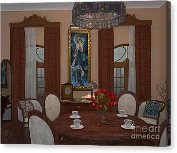 My Art In The Interior Decoration - Elena Yakubovich Canvas Print by Elena Yakubovich