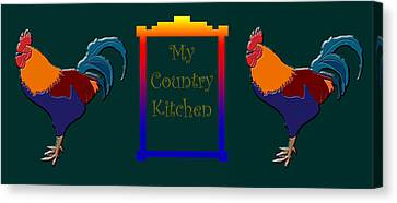 My Country Kitchen Sign Canvas Print by Kate Farrant