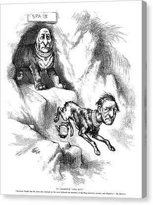 Nast Tilden Cartoon, 1876 Canvas Print by Granger