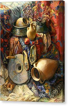 National Armenian Still-life Canvas Print by Meruzhan Khachatryan