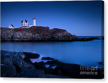 Nubble Lighthouse Canvas Print by Brian Jannsen