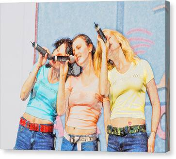 3 Of Hearts Canvas Print by Brian Graybill