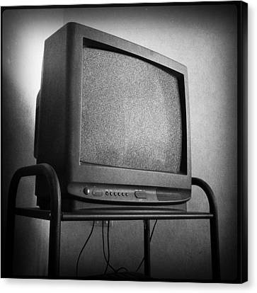 Old Television Canvas Print by Les Cunliffe