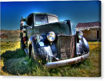 Old Truck At Bodie Canvas Print by Chris Brannen