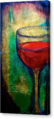 One More Glass Canvas Print by Debi Starr