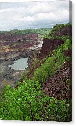 Open Pit Iron Mine Canvas Print by Jim West