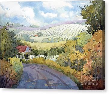 Out Santa Rosa Creek Road Canvas Print by Joyce Hicks