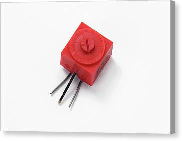 Pcb Potentiometer Canvas Print by Trevor Clifford Photography