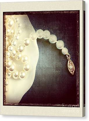 Pearls Canvas Print by HD Connelly