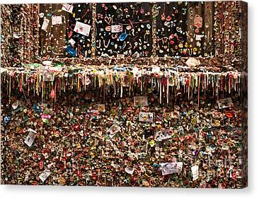 Pike Place Market Gum Wall In Alley Canvas Print by Jim Corwin