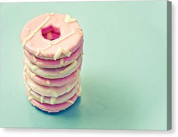 Pink Cookies Canvas Print by Tom Gowanlock